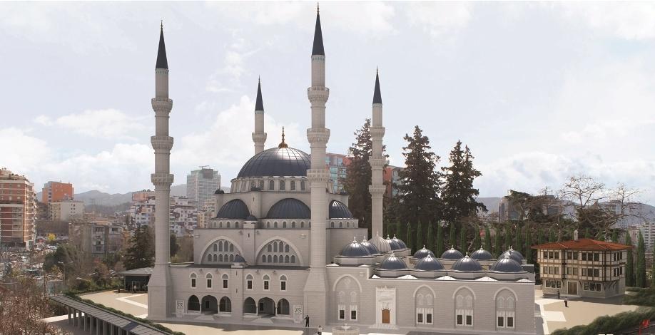 Më 20 prill, ceremonia e fillimit të punimeve të Xhamisë së Madhe të Tiranës