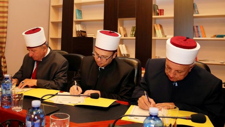 Marrëveshje bashkëpunimi mes tre bashkësive islame shqiptare