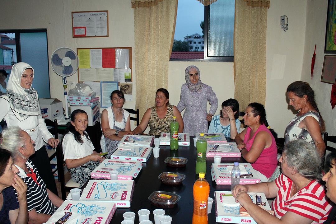 Iftar me agjërueset e burgut të grave