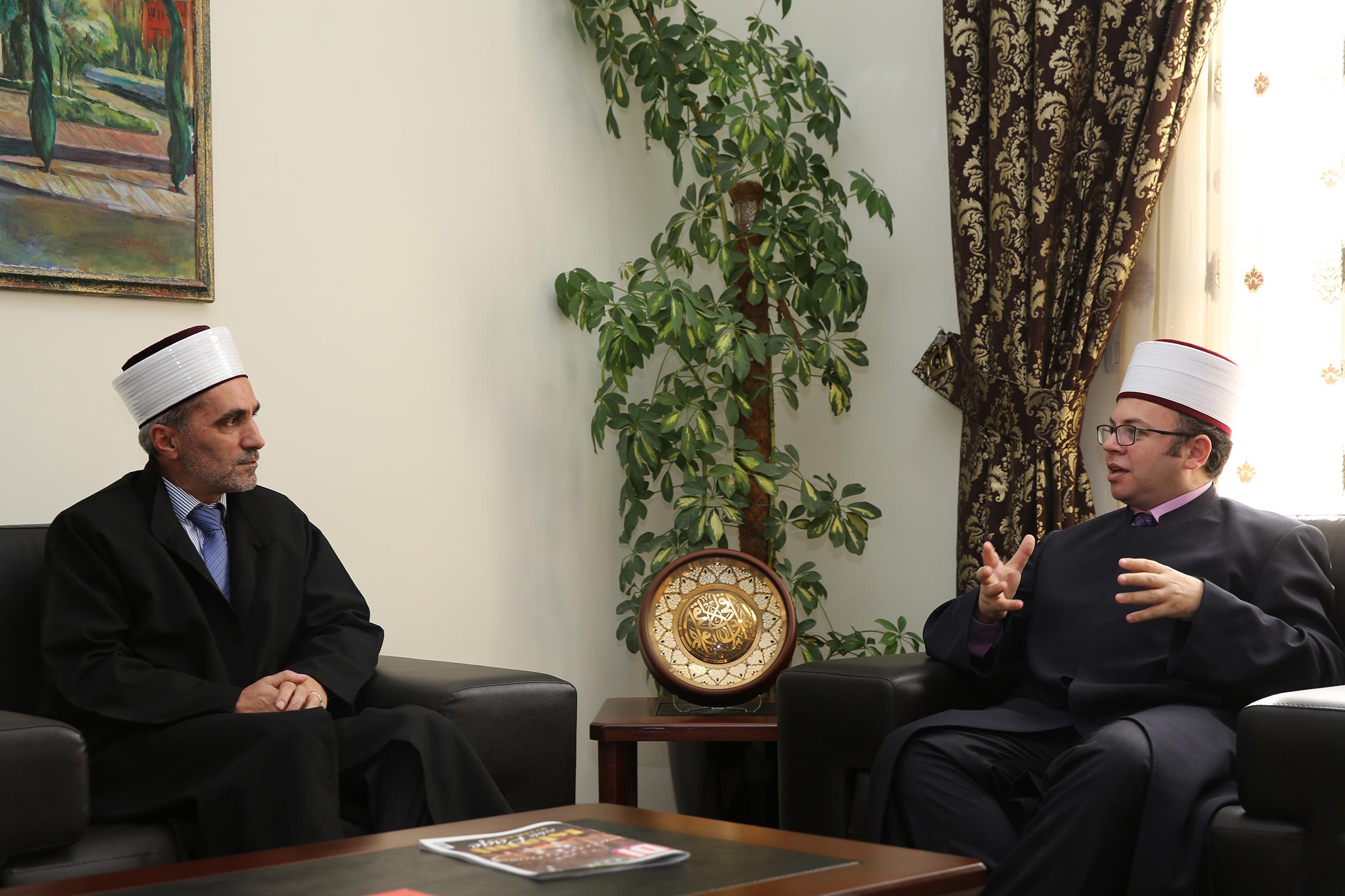 Kryetari Bruçaj pret kryetarin e Bashkësisë Islame të Luginës së Preshevës