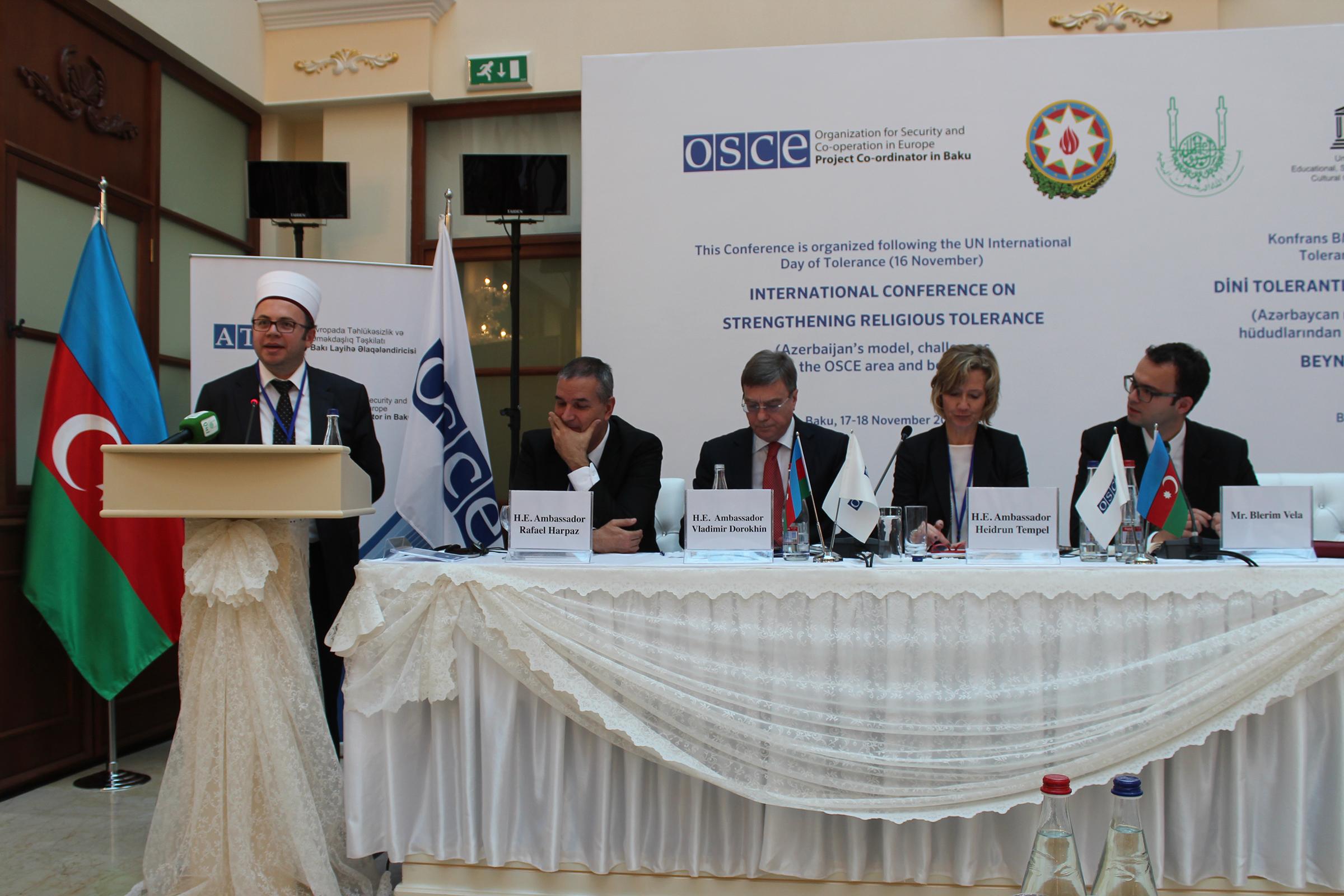 KMSH merr pjesë në konferencën ndërkombëtare për tolerancën ndërfetare në Azerbajxhan