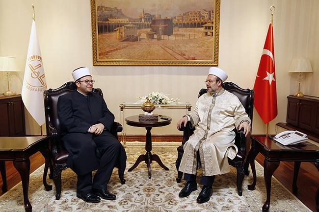 Kryetari i KMSH-së vizitë në Ankara lidhur me ndërtimin e Xhamisë së Namazgjasë
