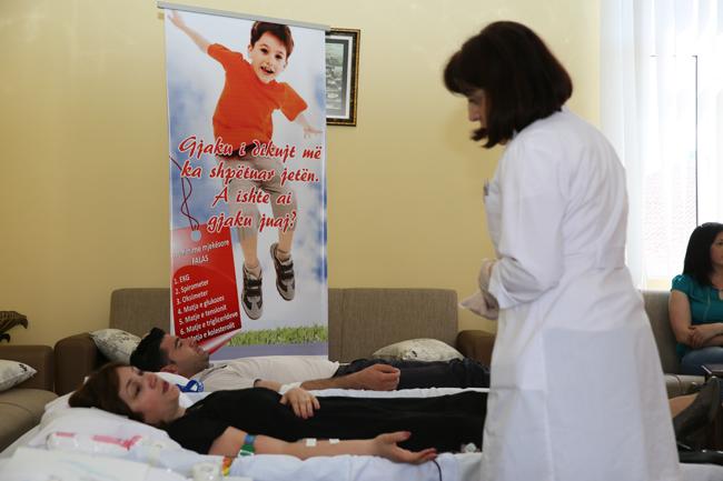 KMSH çel fushatën e dhurimit të gjakut për fëmijët talasemikë