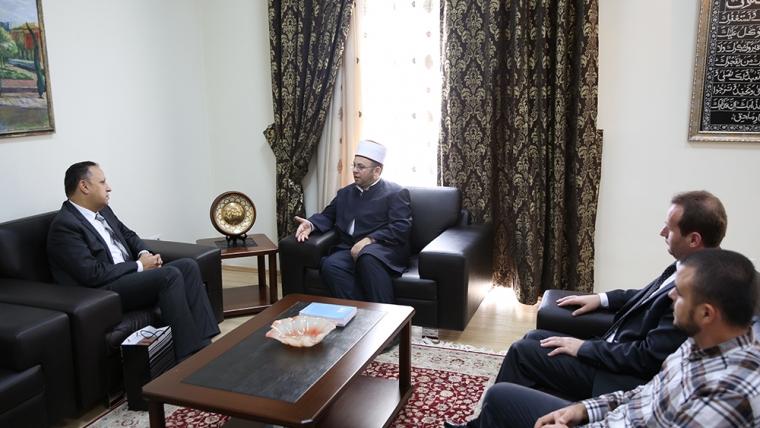 Kryetari Bruçaj pret ambasadorin e ri të Egjiptit