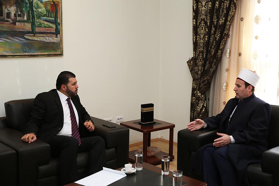 Nënkryetari i KMSH-së pret në një vizitë zv/ambasadorin e Palestinës