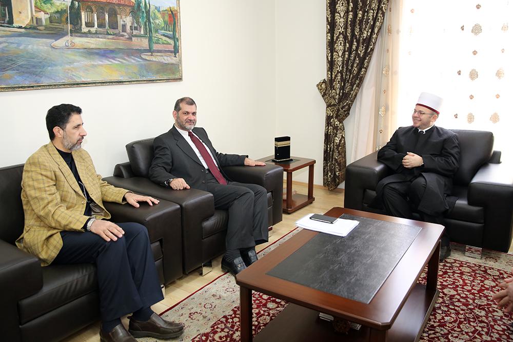 Kreu i KMSH-së pret për vizitë drejtorin e Institutit për Përgatitjen e Imamëve në Jordani