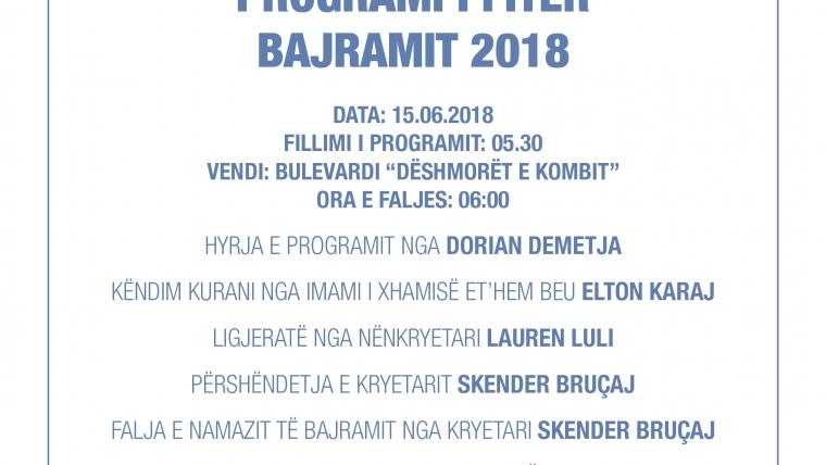 PROGRAMI I FITER BAJRAMIT