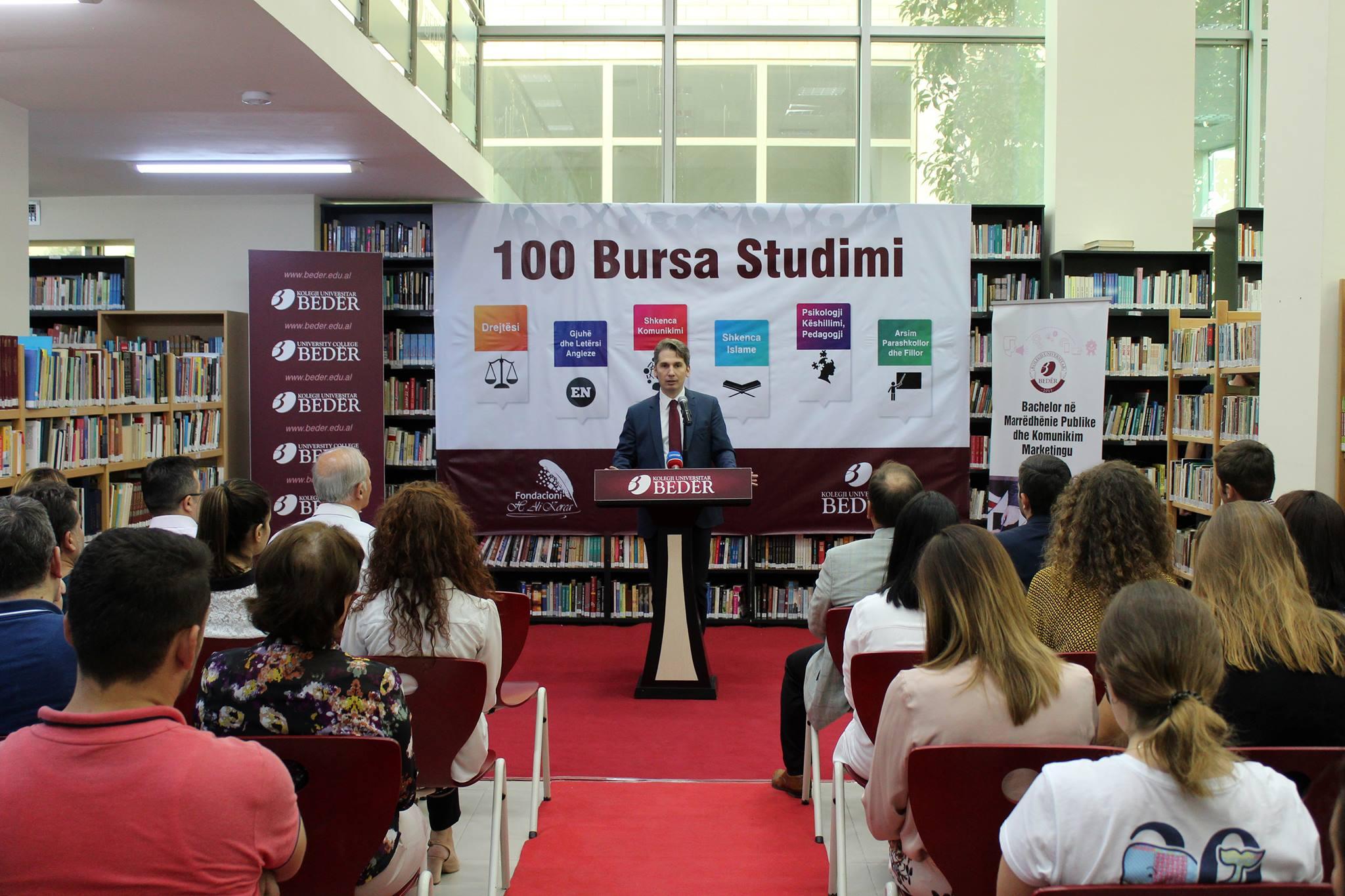 Bedër ofron 100 bursa studimi për vitin akademik 2018-2019
