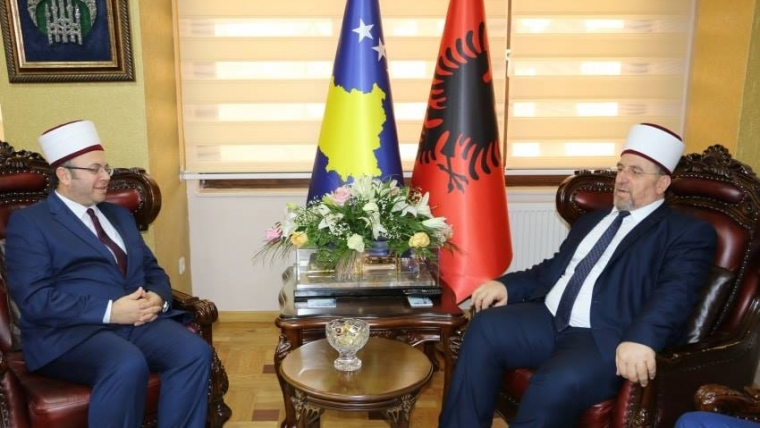 Kryetari i KMSH H. Skënder Bruçaj, uron Myftiun e Kosovës për rizgjedhjen si kryetar i BIRK