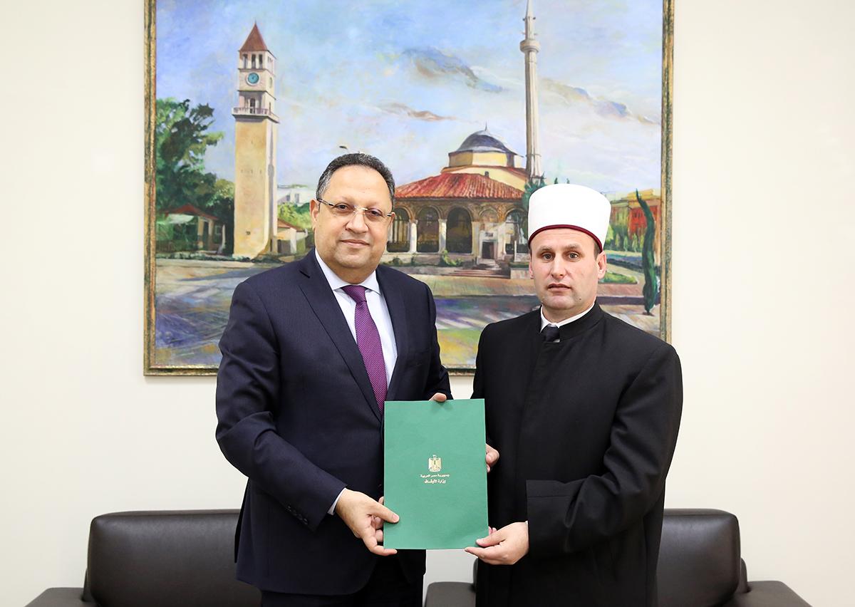 Ambasadori i Egjiptit në Tiranë viziton Kryetarin e KMSH-së