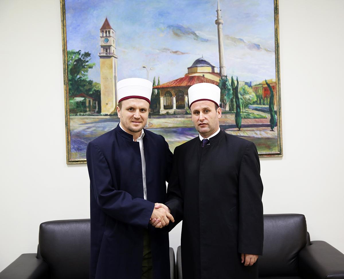 Imami i Komunitetit Shqiptaro Amerikan viziton Kryetarin e KMSH-së