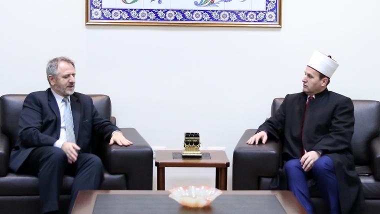 Përfaqësues të Bashkësisë Islame të Bosnje Hercegovinës vizitojnë KMSH-në