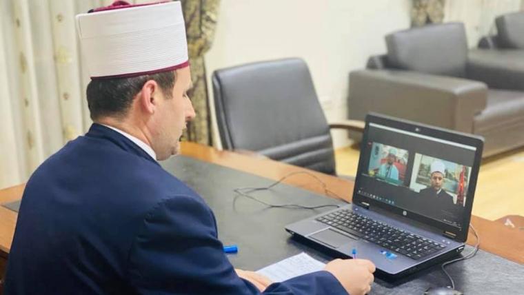 Kreu i KMSH-së, H. Bujar Spahiu: Kënaqësi e veçantë bashkëbisedimi që pata me imamin e nderuar, Rijad ef. Aliu, të Xhamisë Dituria në Gjenevë-Zvicër