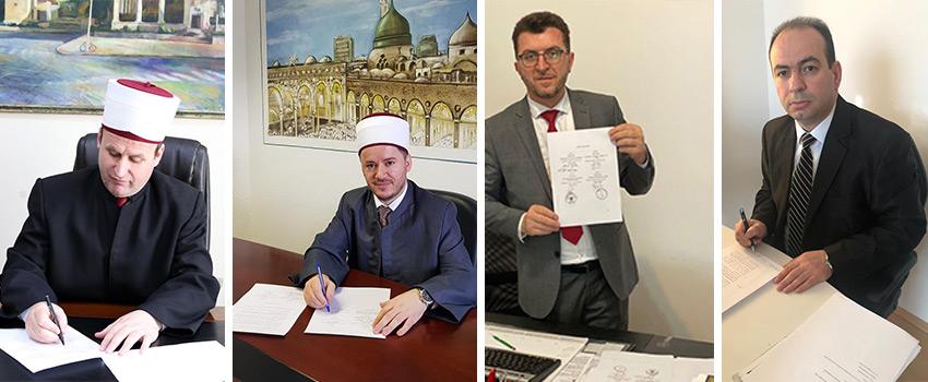 KMSH nënshkruan kontratat për rindërtimin me bashkësitë Islame të Diasporës