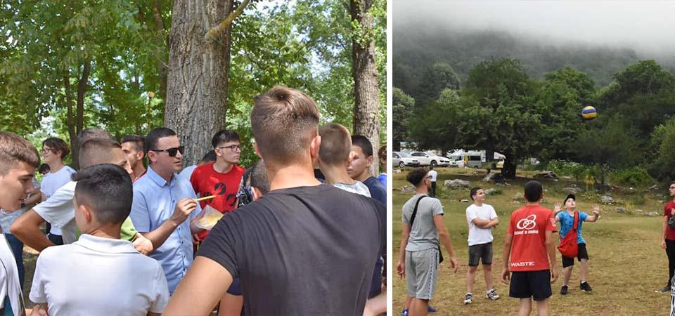 Momente nga kampingu veror me të rinjtë nga myftini të ndryshme të vendit