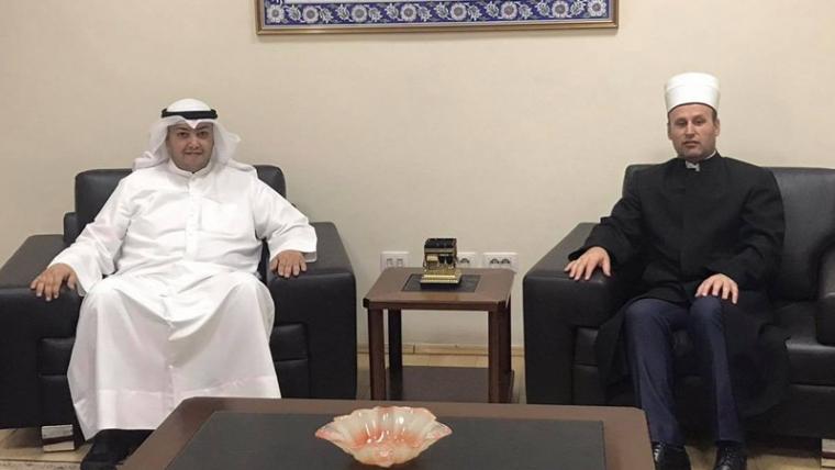 Z. Abdul Aziz Ahmed Alobaid, Drejtori i Përgjithshëm i  Komitetit  Kuvaitjan për Bamërsi, vizitë në KMSH
